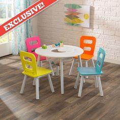 Round Storage Table & Chair Set- Brights