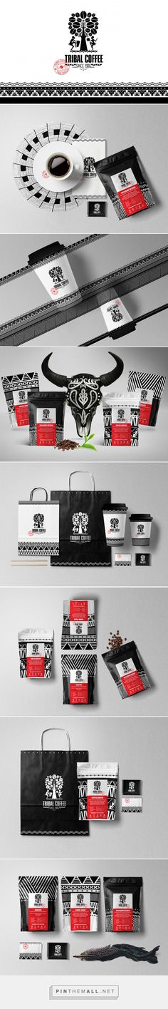Tribal coffee on Behance by Olena Fedorova Lviv, Ukraine curated by Packaging Diva PD. African inspired coffee branding and packaging design.