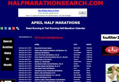 APRIL Half Marathons - April Half Marathon Calendar   Now search by state OR search by month for the entire USA!!! http://www.halfmarathonclub.com/April_Half_Marathons.html