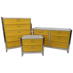 1970s Loewy Style Dressers | From a unique collection of antique and modern dressers at https://www.1stdibs.com/furniture/storage-case-pieces/dressers/