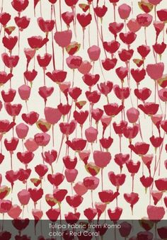 Tulipa Fabric from Romo - Patternsnap loves... these fierce flavours