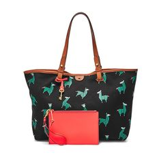 1030abd50e This printed canvas tote comes with a detachable