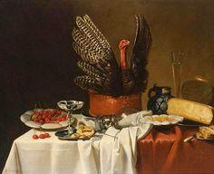 G. Vervorn Still Life with Turkey Pie 1658