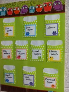 Classroom Jobs poster. Just add Popsicle sticks with the student names.