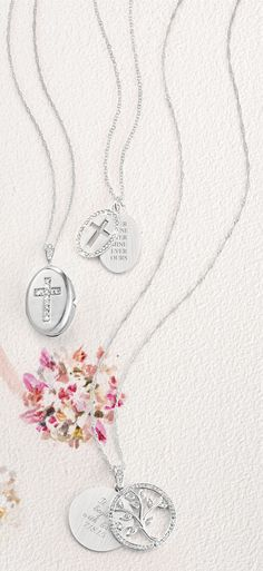 Carry your #faith with you everywhere you go with a #personalized cross #necklace from #ThingsRemembered!