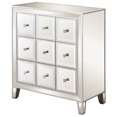 950745+Glam+Mirrored+Accent+Cabinet