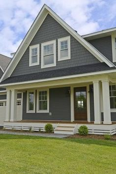 Exterior Shakes and Siding - Benjamin Moore HC 166 Kendall Charcoal. Exterior Trim - Sherwin Williams SW 6140 Moderate White. by Lateefah Closs