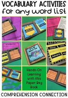 Reading Comprehension Activities, Vocabulary Activities, Reading Resources, Vocabulary Instruction, Vocabulary Words, Word Study, Word Work, 3rd Grade Reading, Third Grade