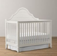 Crib/toddler bed/full size headboard. I searched everywhere for the perfect crib: one that was elegant but not gaudy, one that could easily covert to a toddler bed and one that could eventually be used as a bed in a little girls room or a guest room. AND one that wasn't boyish looking or off white/yellowish.