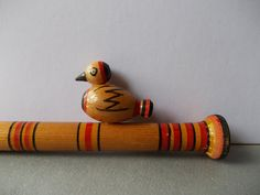 Vintage Whistle / Bird whistle / Folk Motives / Made by EUvintage, $19.00