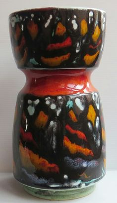 "Oh. Wow. My new favorite piece! 9"" dumbbell shaped vase, Poole pottery Delphis"