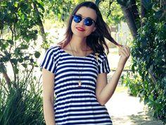Bianca Schultz   Blog de Moda e Beleza de Porto Alegre: Look: Vestido listrado do meu ateliê