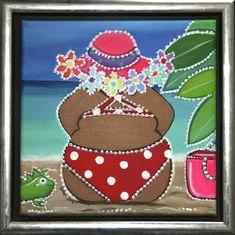 Dikke dame op het strand 2