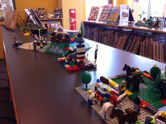 LEGO Club creations on display in Youth Services area @ MPL
