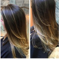 Beautiful Brunette Balayage Inspiration! Love the ombre to blonde. (David J. Witchell, Bucks County PA, Hair by Mackenzie)