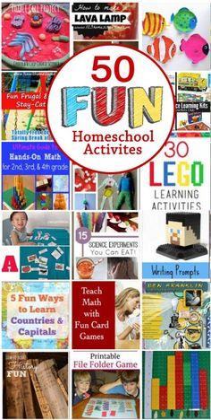 50 Fun Homeschool Activities projects, Freebies