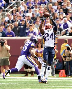 First INT as a Patriot for Darrelle Revis #NEvsMIN