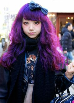 Violet Hair -- http://spacess.tumblr.com/post/65633493018/patorisha-chan-click-for-more