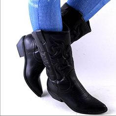 Soda Women Cowgirl Cowboy Western Stitched Boots Pointy Toe Knee High RENO-S * Quickly view this special product, click the image : Boots Shoes
