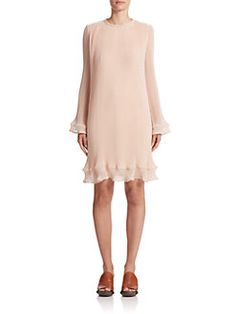 Chloé - Pleated Chiffon Dress