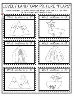 (sample page) LOVELY LANDFORMS: Lift the Flap Fun! Social Studies. $