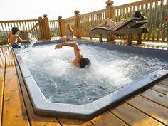Deck around your swim spa if you like