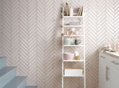 AW 15/16 Tiling Trends with Topps Tiles | Pink Gloss Herringbone