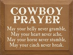 Cowboy Prayer Sign | Wood Signs With Sayings Wholesale ...
