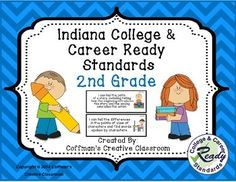 2014 Indiana College and Career Ready Standards Bundle- 2nd Grade- *** Standard Checklist Included*** 2016 Science StandardsThese are the new Indiana Academic Standards (Now called Indiana College and Career Ready Standards) for 2nd grade. Included in this pack are Math, Language Arts, Reading, Speaking & Listening and Media.