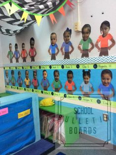 Perfect for preschool or Kindergarten teachers, this bulletin board is a great visual for new students to see their face, their name, and attach a number to it. New Classroom, Classroom Displays, Preschool Classroom, Classroom Themes, Classroom Environment, Preschool Ideas, Preschool Education, Kindergarten Teachers, Teaching Plan