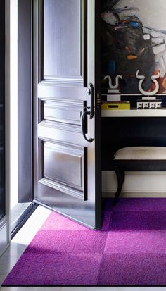 Welcome guests with a bold entryway rug.