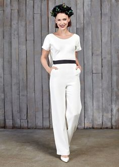 House of Ollichon 'Clement' Jumpsuit for your inner tomboy! #tomboy #bride #bridalfashion