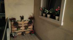 Pallet & Fioriere in terrazza
