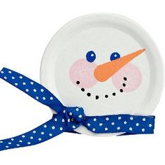 Canning Jar Lid Snowman Craft