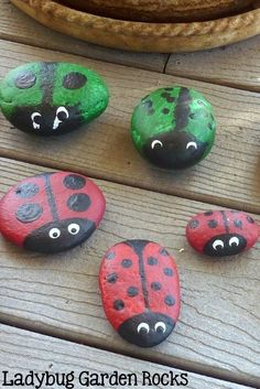 Ladybug rocks for your garden? Who doesn't need a herd of ladybugs in their garden.  If you ask any child, they will tell you, We ALL need a herd somewhere in our yard. This is how you go about collecting a herd of ladybug rocks.  You first start off with a trip to the beach, riverbed, backyard rock pile, which ever of those meets your needs.  I like the beach best, just because it makes the children more ready for a nap after lunch.  I try and help them choose rocks that are smooth and b...