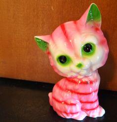 Pamela Klaffke's vintage '60s ceramic cat, made in Japan.