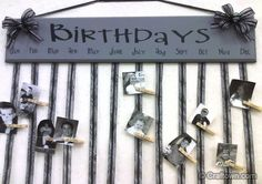 This is a great idea to remember birthdays