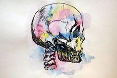 Watercolour Anatomy: The Skull by chemical-adventures.deviantart.com on @deviantART