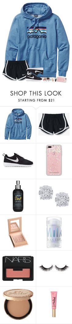 """""""she believed she could, so she did."""" by hopemarlee ❤️ liked on Polyvore featuring Patagonia, NIKE, Rebecca Minkoff, Bumble and bumble, Effy Jewelry, NARS Cosmetics, Too Faced Cosmetics and hmsloves"""