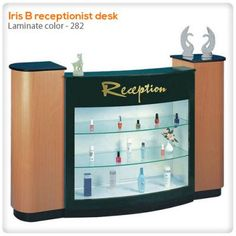 Iris B receptionist desk