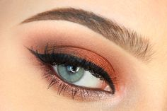 Lovely 'Copper Autumn' Idea Gallery look created by MeLady using Makeup Geek's Goddess, Latte, Mocha and Shimma Shimma eyeshadows.