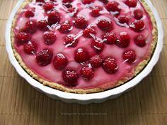 Raspberry - pudding tart - so simple..