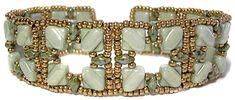 Silky Squares Bracelet at AroundTheBeadingTable.com