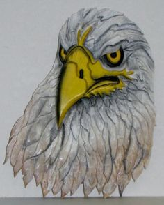 Intarsia Eagle head (or Iowa Hawkeye fan!)