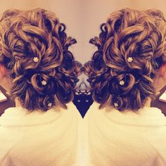 Wedding hair done by me. Love.