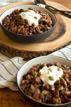 A vegan bean-lentil