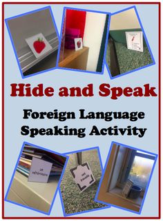 and Speak (or Write): Foreign (Wolrd) Language Activity to Practice Speaking and Writing (French, Spanish) wlteacher.Hide and Speak (or Write): Foreign (Wolrd) Language Activity to Practice Speaking and Writing (French, Spanish) wlteacher. Spanish Activities, Vocabulary Activities, Language Activities, Spanish Games, Teaching Vocabulary, Listening Activities, Spanish Vocabulary, Class Activities, Preschool Worksheets