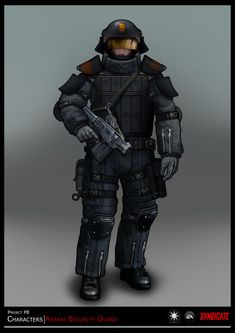 SYNDICATE concept - character guard by *torvenius on deviantART