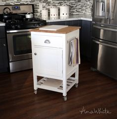 Ana White | Build A HOW TO: Small Kitchen Island Prep Cart With Compost |