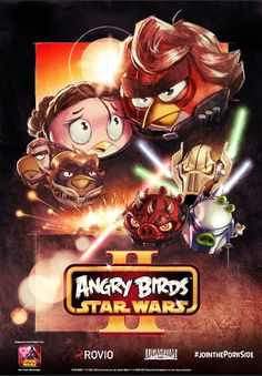 Exclusive Angry Birds Star Wars 2 posters at Comic-Con. 1pm at the Hasbro event on Friday July 19.